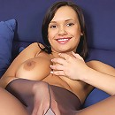 Serious college girl turns into nylons porn star