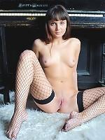 Fishnet stockings girl