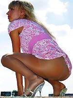 Dolores pantyhose admiring temptress