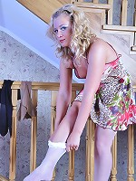 Gertrude sexy woman in stockings