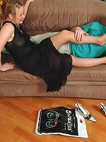Sizzling hot chick in suntan pantyhose giving frenzied footjob till cumshot