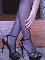 Crystal awesome nylon feet teaser
