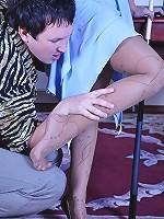 Barbara&Rolf hot nylon footsex