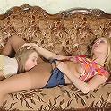 Ottilia&Florence lesbian pantyhose duo