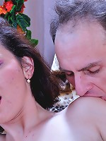 Kissing couple indulges their mutual fetish launching into pantyhose sex