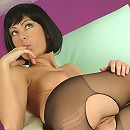 Ripping her sweet body out of her pantyhose