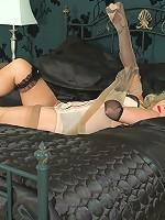 Naughty nylon sex games