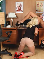 Lana gets her sweet pussy licked by a lesbian nurse