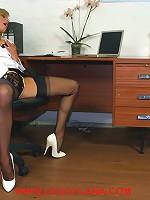Leggy Lana has some fun with her new horny secretary