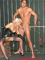 I've just built a new dungeon in my cellar and decided to try it out with my male slave