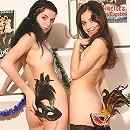 Horny teens undress each other