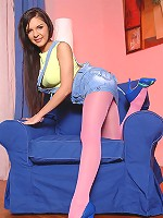 Henessy's pantyhose striptease