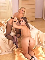 Young lesbians in pantyhose