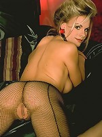 Red bow stockings blondie having pussy fetish